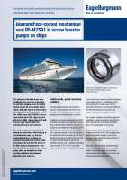 Solution: DiamondFace-coated mechanical seal DF-M7S91 in screw booster pumps